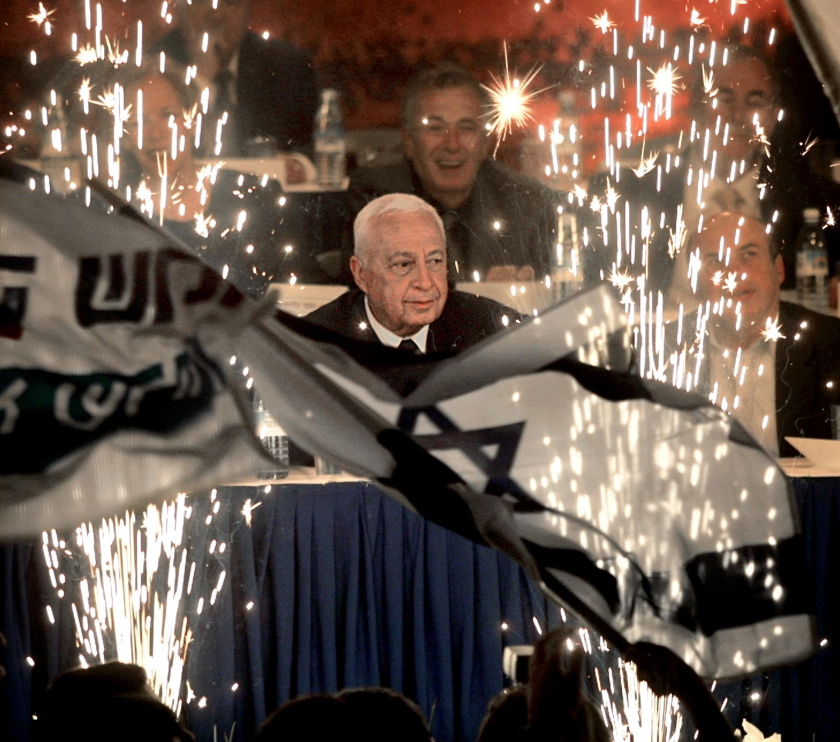 Ariel Sharon, leader of Israel's right-w